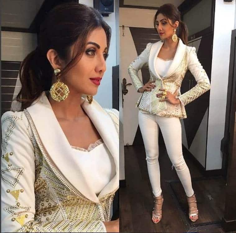 Shilpa Shetty in Rose Room Couture. (Source: Instagram/Shilpa Shetty)