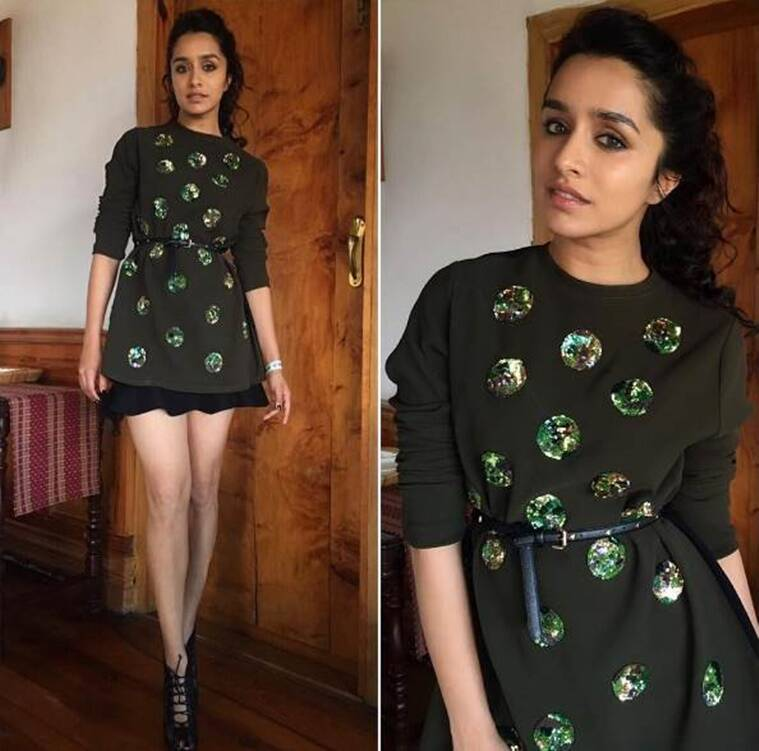 Shraddha Kapoor in a Sanchita top and a skirt from Zara. (Source: Instagram/Sanam Ratansi)