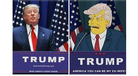 donald trump, donald trump us president, us elections, us presidential elections, the simpsons, the simpsons donald trump president, freaky videos, indian express, indian express news