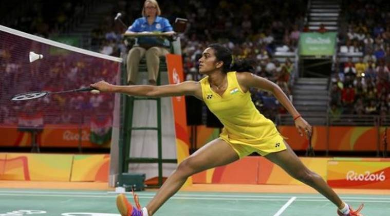 2016 Rio Olympics - Badminton - Women's Singles - Gold Medal Match - Riocentro - Pavilion 4 - Rio de Janeiro, Brazil - 19/08/2016. P.V. Sindhu (IND) of India plays against Carolina Marin (ESP) of Spain. REUTERS/Marcelo del Pozo