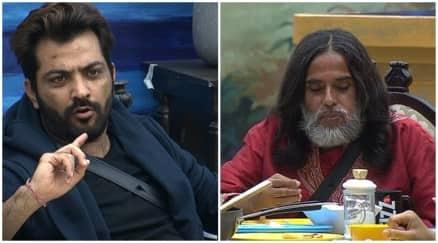 Bigg Boss 10 highlights, Bigg Boss 10 yesterday episode, swami om manoj punjabi fight bigg boss 10, swami om bigg boss 10,