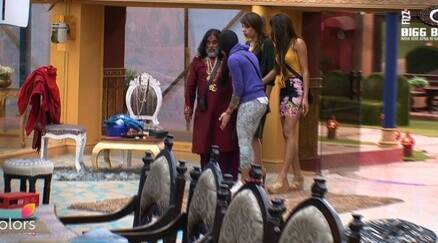 Bigg boss 10 highlights, bigg boss 10 yesterday episode, bigg boss 10 nomination special, swami om touches sunny leone, swami om sunny leone, bani on swami om