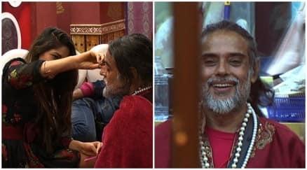 Bigg Boss 10 highlights, bigg boss 10 yesterday episode, swami om trims beard, swami om daughters bigg boss 10