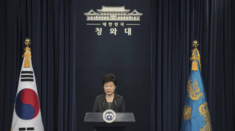 Park Geun-hye, south korea scandal, south korea corruption, south korea, south korea president, world news, indian express, South Korean President Park Geun-hye, south korea, south korea tensions, south korea update, world news, indian express,