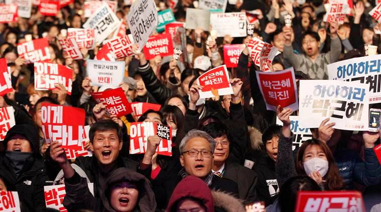 South Korea scandal, Park Geun Hye, Park Geun Hye resignation, South Korea protest, South Korea president protest, South Korea President aide arrest, news, latest news, world news, international news, South Korea news