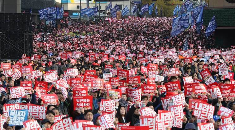 South Korea, Seoul, south korea president, President ouster, President Park Geun-hye, south korea protest, protests, world news, indian express