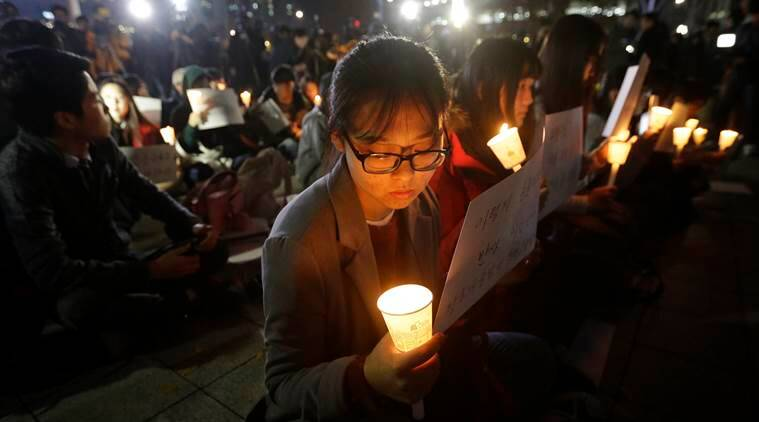 south korea, S korea, S korea protest, College exams, S korea college exams, S korea protest halted, annual college entrance exam, president, South korea president, Park Geun hye, world news, indian express