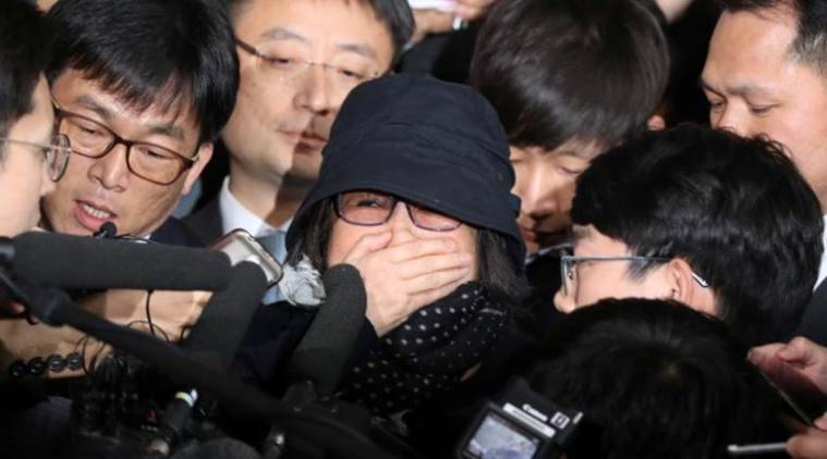 South Korea, South Korea political crisis, South Korean woman arrested, Choi Soon-sil, President Park Geun-hye, South Korea news, world news, latest news, indian express
