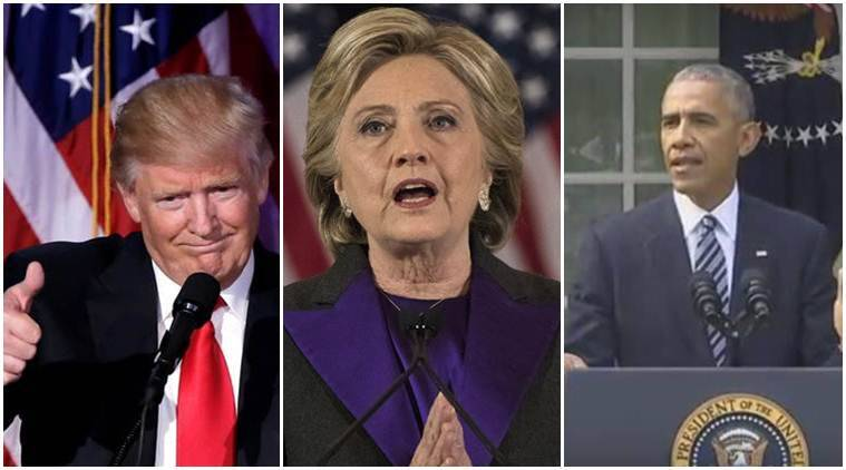 President Trump, Donald Trump, Donald Trump's victory speech, Hillary Clinton, Hillary Clinton speech, Hillary Clinton's speech of concession, Barack Obama, Obama, Obama speech, Barack Obama's speech, US elections 2016, US election results, Indian Express