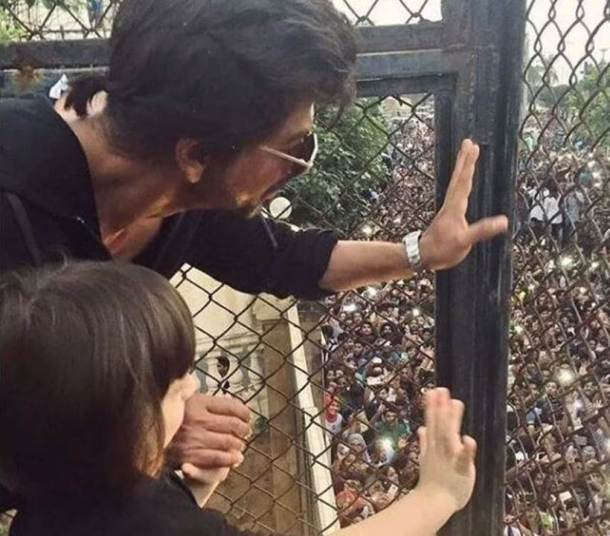 shah rukh khan birthdya bash, abram