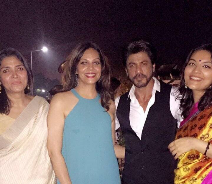 Shah Rukh Khan spotted at the same party