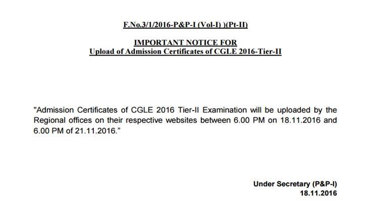 ssc, ssc cgl, ssc.nic.in, ssc cgl 2, ssc cgl admit card, cgl 2 admit card, ssc admit card, ssc cgl 2 admit card, www.ssc.nic.in, ssc regional website, ssc cgl 2016, ssc cgl hall ticket, staff selection commission, combines graduate level, cgl 2 exam, ssc news, recruitment news, indian express