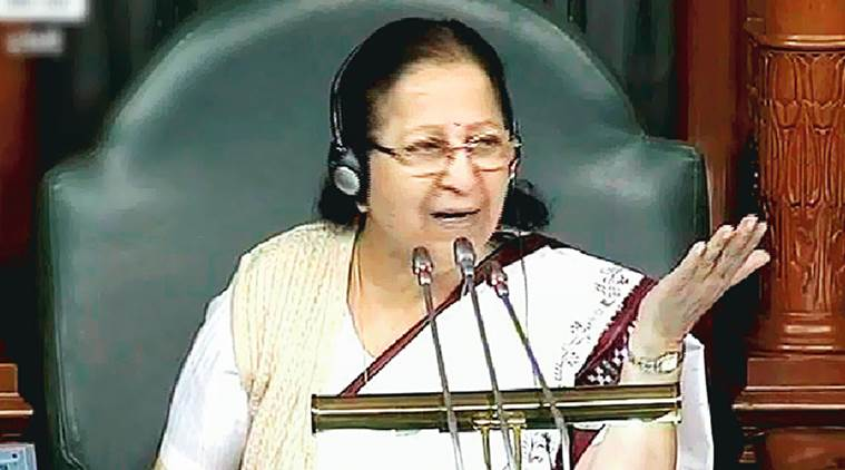 sumitra mahajan, parliament session, parliament winter session, IT act, opposition protests parliament, lok sabha session, IT act lok sabha, indian express, india news