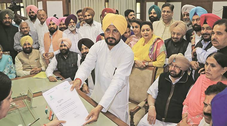 SYL canal issue, Punjab Haryana water dispute, water dispute, Congress MLAs resigns, Punjab Congress MLAs resign, Badal  government, Punjab CM badal, Supreme Court decision, Pranab Mukherjee, indian express news