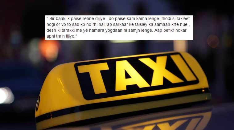 The guy had no money and the cab driver's response to that was brilliant.