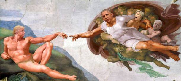 This iconic picture of Barack Obama shaking hands with Donald Trump set off an epic photoshop battle