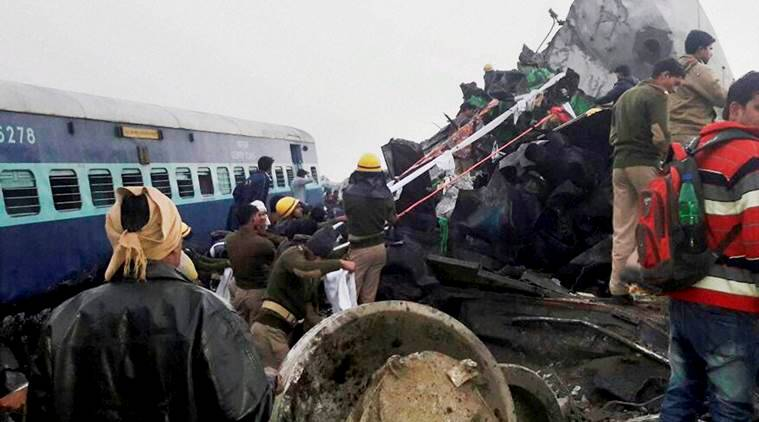 Indore-Patna train accident, train accident on Sunday, train accident in Kanpur, number injured in train accident, Kanpur train accident, Indian railways, Suresh Prabhu, Kanpur, Bihar, UP, Indore, madhya pradesh, indian express news