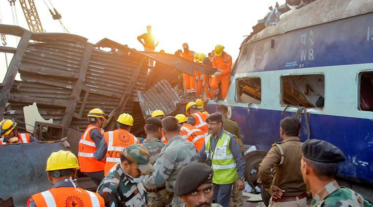 indore patna express, indore patna express derails, patna train derails, Indore train derails, kanpur train accident, train accident today, indian railways, patna indore train accident, train accident, train derailed, train accident deaths, train accident death toll, kanpur train accident death toll, kanpur train accident deaths, kanpur indore train accident deaths, PAtna Indore express, Kanpur, Kanpur train, Kanpur train accident, Kanpur derailed train, Kanpur train derail, Kanpur news, India news
