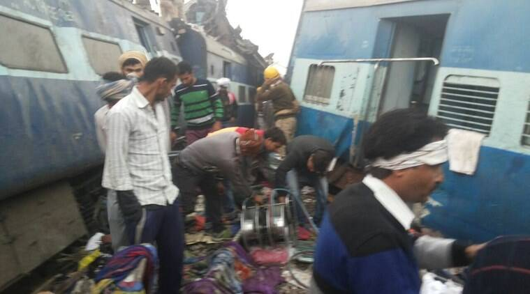 patna indore train derails, kanpur, train derails, train derailment, bihar CM, nitish kumar, train derailment nitish kumar, nittish kumar condolences, india news, indian express news