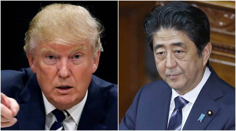 Donald Trum, trump, Shinzo Abe, ABe, Japan, US, Unites states, US elections, US elections results, president-elect trump, Shinzo Abe Donald trump, world news