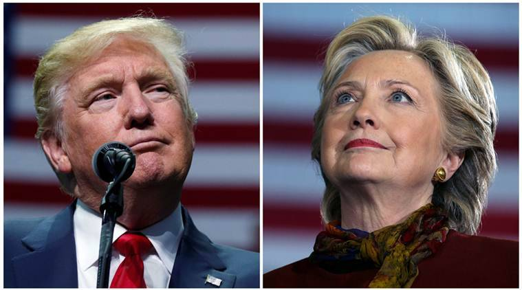 U.S. presidential candidates Donald Trump and Hillary Clinton attend campaign events in Hershey, Pennsylvania, November 4, 2016 (L) and Pittsburgh, Pennsylvania, October 22, 2016 in a combination of file photos. REUTERS/Carlo Allegri/Carlos Barria/Files
