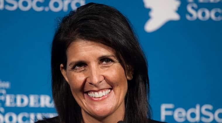 Nikki Haley, Haley, US envoy, US envoy to UN, Indian-Ameriacan, Indian-American Nikki Haley, US, UN, Donald Trump, Trump, UN Hails Nikki Haley nomination, World news, indian express news