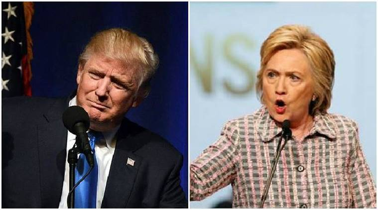 hillary Clinton, donald Trump, US elections 2016, US presidential elections 2016, presidential elections 2016, elections 2016, world news, indian express