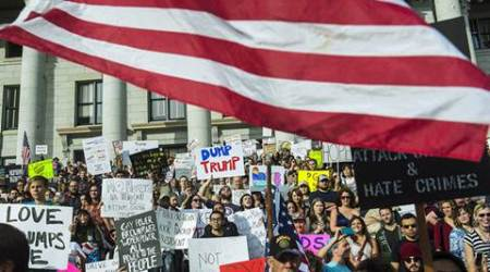 Donald Trump, US president Donald Trump, trump supporters, anti-trump protests, Republican, democrats, trump racism, rally organisers, world news, Indian express