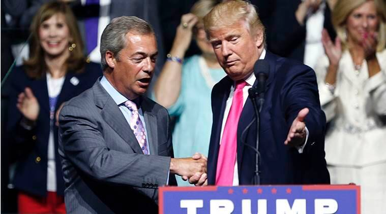 Nigel Farage, Donald Trump, Farage Trump, Theresa May, UK US, news, latest news, world news, international news, US news