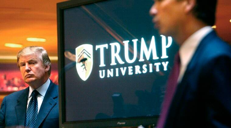 trump, trump university, trump case, trump news, donald trump presidency, world news, indian express,