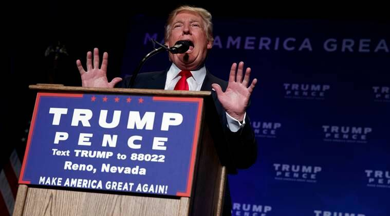 Republican presidential candidate Donald Trump speaks during a campaign rally, Saturday, Nov. 5, 2016, in Reno, Nev. (AP Photo/ Evan Vucci)