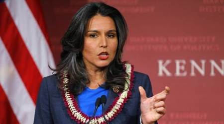 Tulsi Gabbard, Tulsi on Venezuela, venezuela crisis, US role in Venezuela crisis, US President Donald Trump, world news, indian express