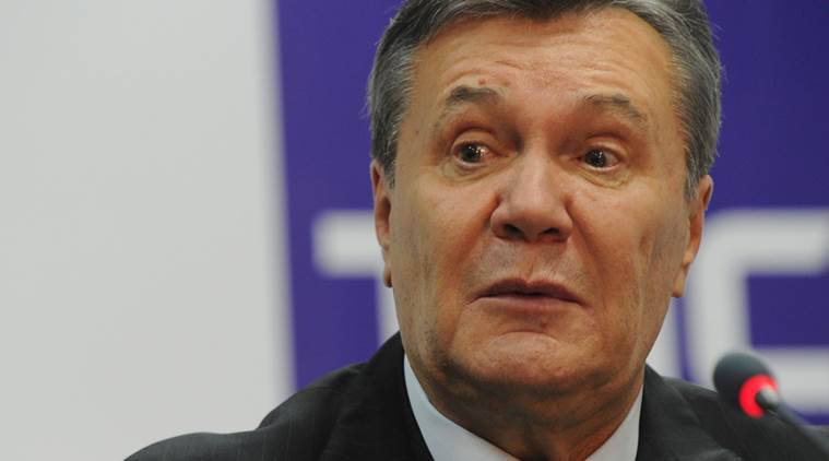 Ukraine's former President Viktor Yanukovich speaks during a news conference in Rostov-on-Don, Russia, November 28, 2016. REUTERS/Stringer FOR EDITORIAL USE ONLY. NO RESALES. NO ARCHIVE.