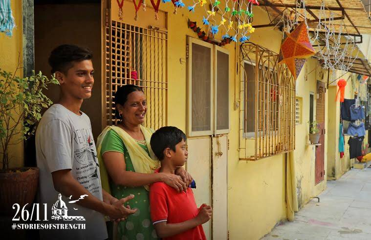 Shruti, with her two sons Rohan and Atharva. Express Photo/Nirmal Harindran