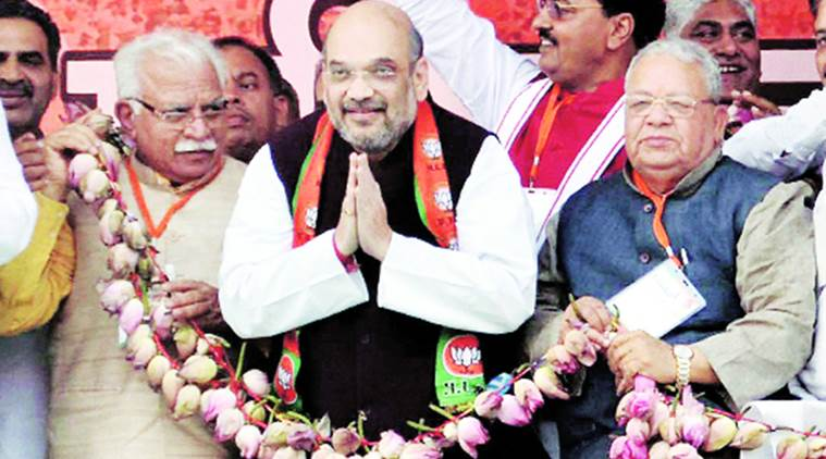 amit shah, amit shah on sp, sp grand alliance, samajwadi party grand alliance, sp grand alliance, amit shah sp alliance, amit shah up elections, india news, indian express news