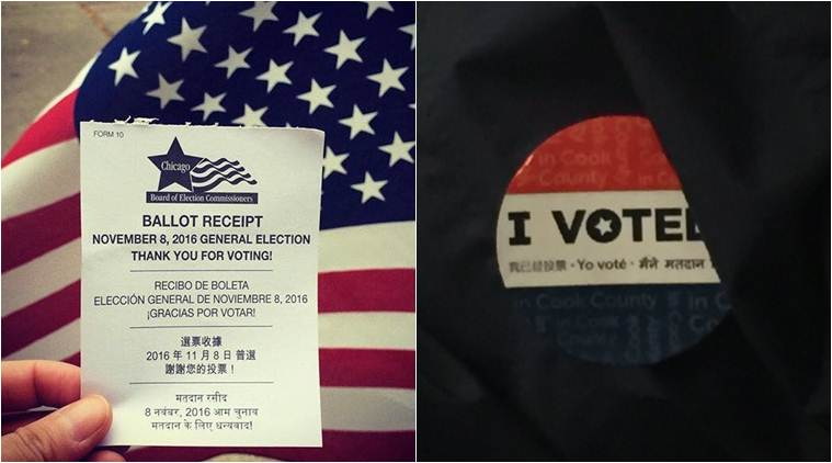 US elections ballot receipts had 'Thank You' note in Hindi