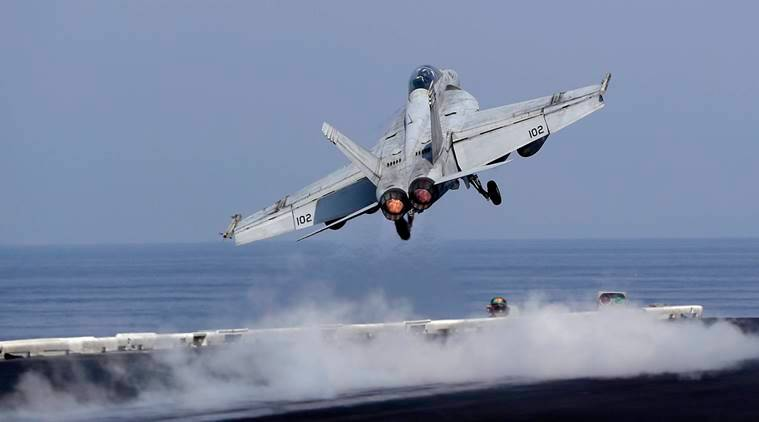 US aristrikes in syria and Iraq, ISIS airstrikes, US airstrikes news, latest news, USS eisenhower, airstrkies against ISIS, latest news, International news, World news, latest news