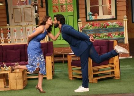 Befikre Ranveer Singh missed his Mastani Deepika Padukone on Kapil Sharma Show. This happened next