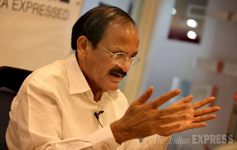 Venkaih Naidu, Naidu, Naidu Rajya Sabha, Prime Minister Narendra Modi, Modi demonetisation, Naidu demonetisation, Rajya Sabha adjourn, Winter session, Parliament, demonetisation Congress, Congress, Congress no demonetisation, indian express news