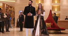 Indian cricketer Yuvraj Sing and Hazel Keech a British−Mauritian model  turned actress after Pre-Wedding ceremony at hotel in Chandigarh IT park on Tuesday, November 29 2016. Express photo by Jaipal Singh