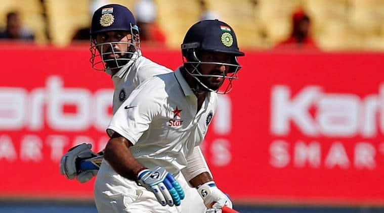 India vs England, Ind vs Eng 1st Test, India vs England score, Ind vs Eng score, Ind vs Eng 1st Test, Ind vs Eng Rajkot, Murali Vijay, Chesteshwar Pujara, Cricket news, Cricket