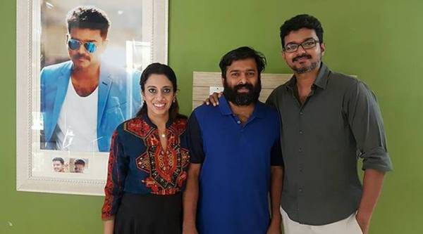 Vijay sings for his upcoming film Bairavaa