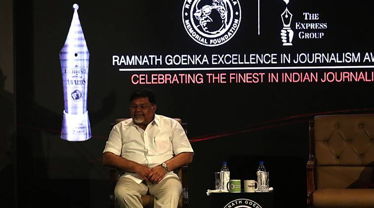 ramnath goenka awards, journalism awards, rng awards, viveck goenka, express group chairman, modi and goenka, viveck goenka modi, express awards speech, ramnath goenka award speech, rng speech, india news