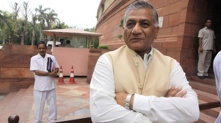 VK Singh, Union Minister VK Singh, death of workers abroad, telangana, telanga news, Pravasi Bharatiya Bima Yojana, indian express, india news