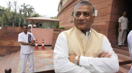 V K Singh in Iraq to coordinate search operations for missingIndians