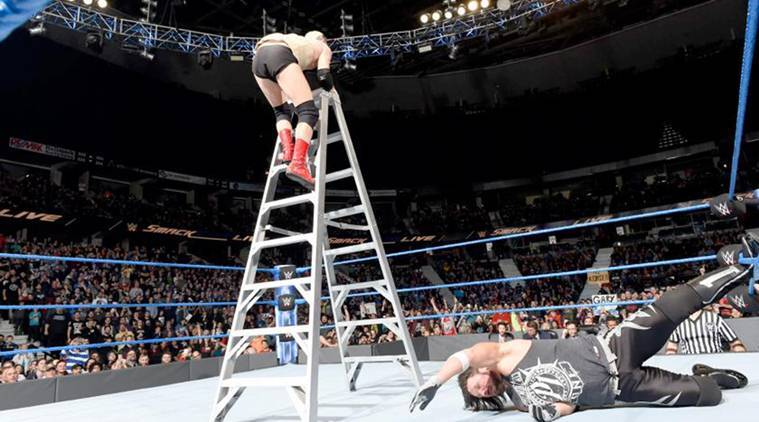 WWE Smackdown, WWE smackdown results, AJ Styles, Dean Ambrose, James Ellsworth, WWE ladder match, wwe news, sports news