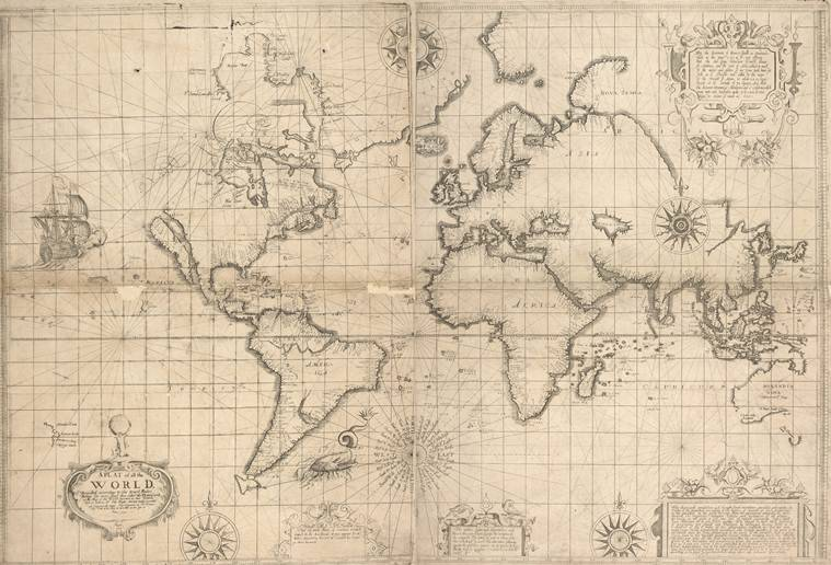 maps, world map, history of the world map, british library, exhibition in british library, cartography, history of maps, Indian Express
