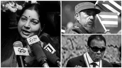 Jayalalithaa, Muhammad Ali, Fidel Castro and others who passed away in 2016
