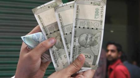 Rupee loses 5 paise against dollar to64.12