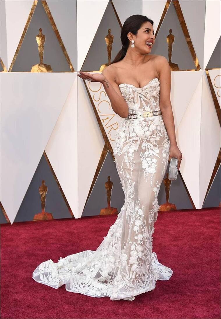 Priyanka Chopra arrives at the Oscars on Sunday, Feb. 28, 2016, at the Dolby Theatre in Los Angeles. (Photo by Jordan Strauss/Invision/AP)
